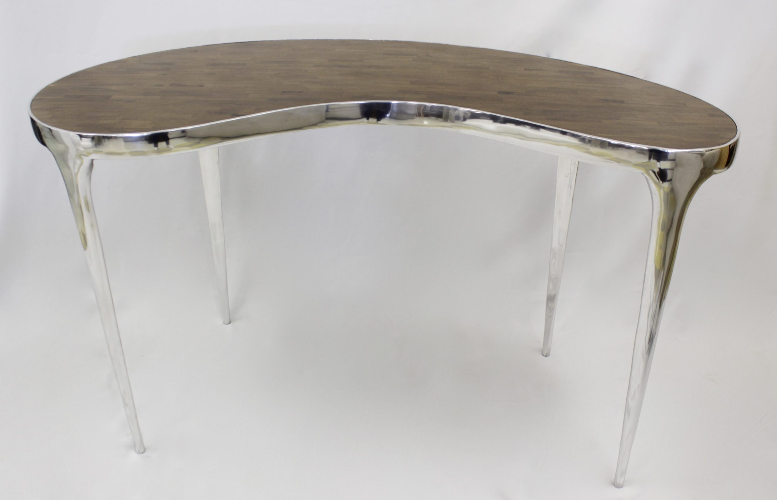 Kidney Shaped Console Table Decorama